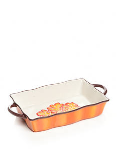 Home Accents Harvest Leaf Rectangular Baker
