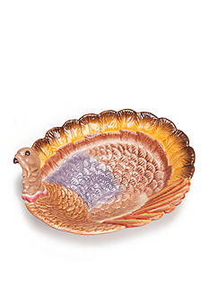Home Accents Harvest Turkey Serving Bowl