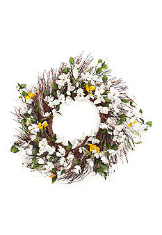 Home Accents® 24-in. Dogwood Wreath