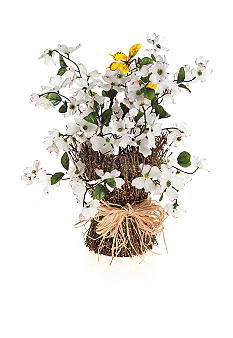 Home Accents® White Dogwood Stack