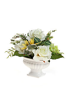 Home Accents® White Rose Centerpiece