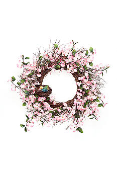 Home Accents 24-in. Pink Dogwood Wreath