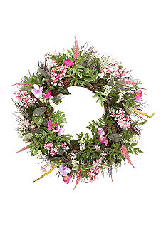 Home Accents 24-in. Wildflower Wreath