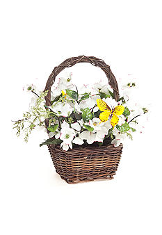 Home Accents® Dogwood Flower Basket