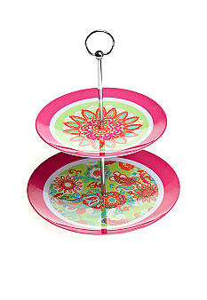 Home Accents Paisley 2 Tier Patterned Server