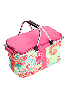 Home Accents Insulated Paisley Picnic Basket