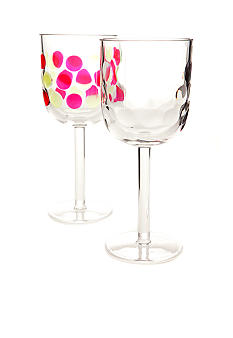 Home Accents Dot Textured Wine Glass