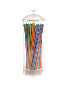 Home Accents Multi-Color Straw Dispenser