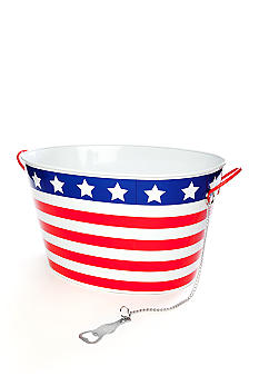 Home Accents Stars and Stripes Beverage Tub