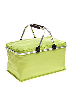 Home Accents Green Non-insulated Picnic Basket