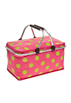 Home Accents Polka Dot Non-insulated Picnic Basket
