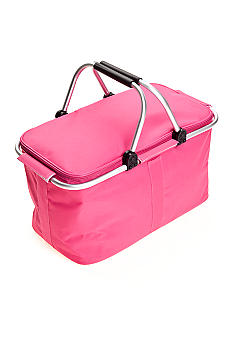 Home Accents Insulated Pink Picnic Basket