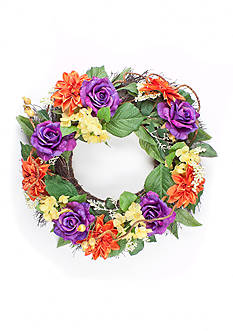 Home Accents® Mix Dahlia Rose Wreath