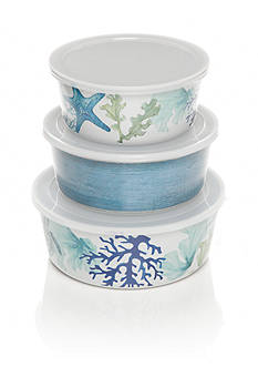 Home Accents Melamine Sea life Coastal Set of Three Dip Bowls