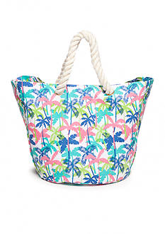 Home Accents Palm Tree Canvas Beach Tote