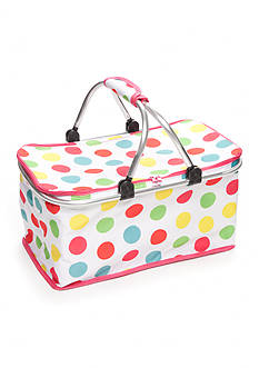 Home Accents Multi-Dot Insulated Picnic Tote