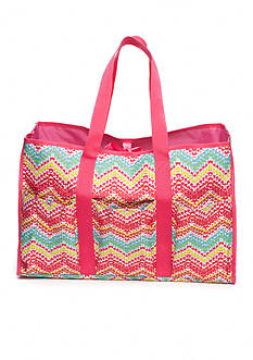 Home Accents Multi-Pocket Rectangle Chevron Beach Tote