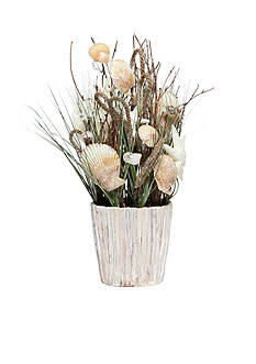 Home Accents Coastal Seashell Decorative Pot