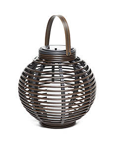 Home Accents Faux Wicker Solar Lantern