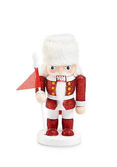Home Accents Holly Jolly Christmas Glittered Soldier Nutcracker Ornament