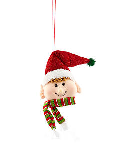 Home Accents Jingle All the Way 10-in. H Elf Head Ornament