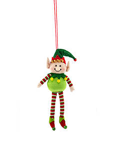 Home Accents Jingle All the Way Elf with Green Hat Ornament