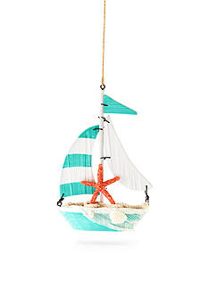 Home Accents Seas & Greetings Wood Sail Boat Ornament