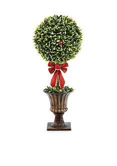 Home Accents 32-in. Topiary Potted Tree with Bow