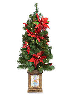 Home Accents 4-ft. Poinsettia Porch Tree