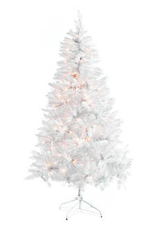 Home Accents 7-ft. Pre-Lit White Frasier Fir Tree