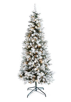 Home Accents 7.5-ft. Pre-Lit Frosted Northern Winter Tree