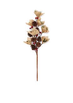 Home Accents Woodland Wonder Burlap Pick Ornament