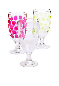Home Accents Dot Iced Tea Glass
