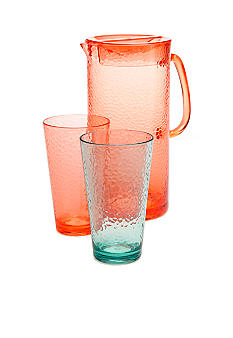 Home Accents Hammered Pitcher and 19-oz. Glass