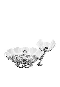 Arthur Court Fleur-De-Lis Chip And Dip With Acrylic Bowl
