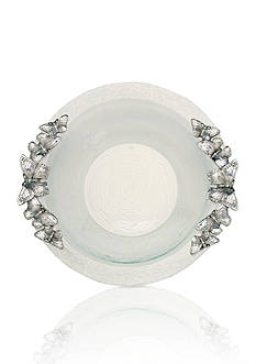 Arthur Court Butterfly Glass Salad Bowl - Online Only