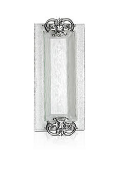 Arthur Court Fleur de Lis Glass Oblong Tray