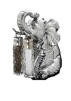Arthur Court Elephant Hanging Salt & Pepper Set