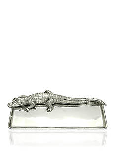 Arthur Court Alligator 9-in.x 20-in. Tray - Online Only