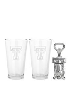 Arthur Court Texas Tech Red Raiders 3-Piece Pub Glass & Bottle Opener Set - Online Only