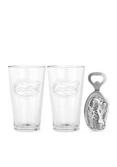 Arthur Court Florida Gators 3-Piece Pub Glass & Bottle Opener Set - Online Only