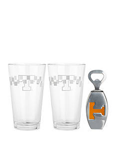 Arthur Court Tennessee Volunteers 3-Piece Pub Glass & Bottle Opener Set - Online Only