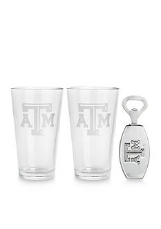 Arthur Court Texas A&M Aggies 3-Piece Pub Glass & Bottle Opener Set - Online Only