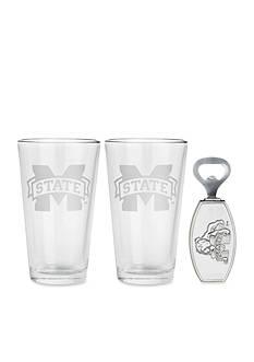 Arthur Court Mississippi State Bulldogs 3-Piece Pub Glass & Bottle Opener Set