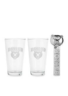 Arthur Court Baylor Bears 3-Piece Pub Glass & Bottle Opener Set - Online Only