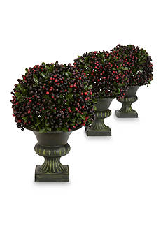 Nearly Natural Pepper Berry Ball Topiary Plants