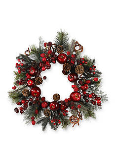 Nearly Natural 22-in. Apple Berry Wreath