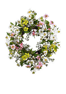 Nearly Natural 20-in. Dogwood Wreath