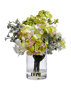 Nearly Natural Hydrangea Silk Flower Arrangement