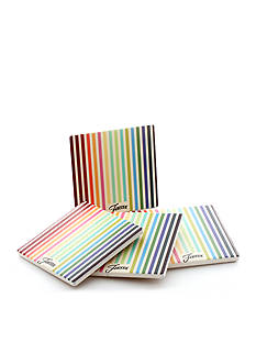 Fiesta Masquerade Stripes Coasters Set of 4